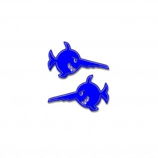 Aufkleber Schwertfisch U-Boot U96 Fisch lachender Sägefisch 2x 35x20cm #A4792