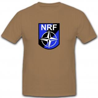 NRF Wappen Emblem Nato Response Force Abzeichen - T Shirt #2976