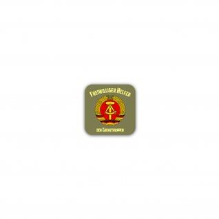 Aufkleber/Sticker Freiwilliger Helfer der Grenztruppen NVA DDR 7x7cm A2443