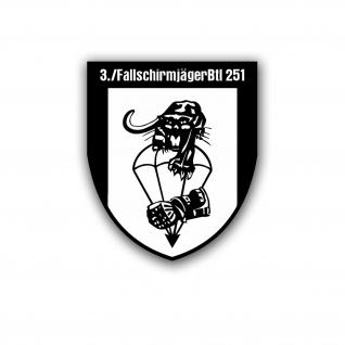 Aufkleber 3 FallschirmjägerBtl 251 Bataillon Einheit Militär 30x25cm #A4761