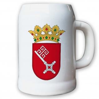 Krug / Bierkrug 0, 5l - Bremen Bundesland BRD Deutschland Wappen Fahne #9415
