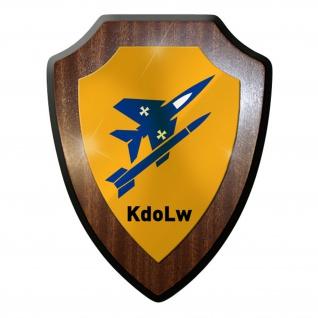 Wappenschild / Wandschild - KdoLw Kommando Luftwaffe Bundeswehr #11885