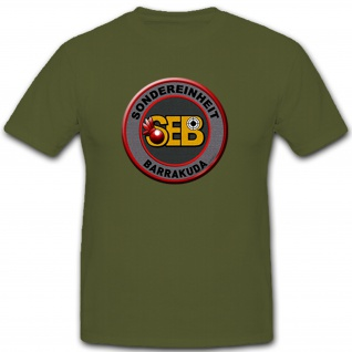 Sondereinheit Barrakuda schweizer Polizei Schweiz SEB Abzeichen - T Shirt #10265