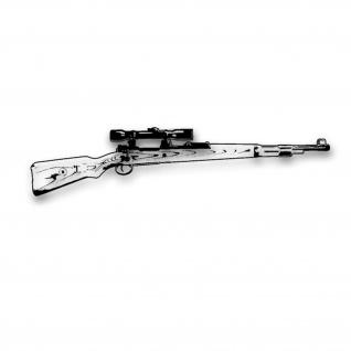 Wandtattoo Karabiner 98K mit ZF Gewehr Deko Waffe Sportschütze 120x28cm #A3559