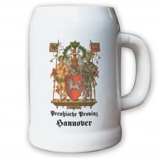 Krug / Bierkrug 0, 5l - Preußische Provinz Hannover Landeswappen Abzeichen #9477