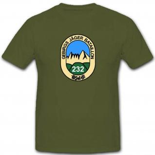 Gebjgbtl232 Gebirgsjägerbataillon 232 Bundeswehr Militär T Shirt #3503