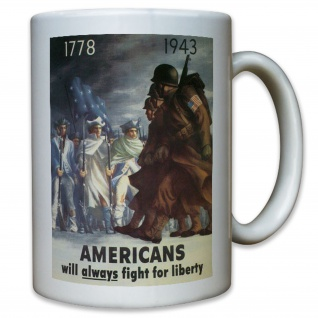 Americans will always fight for liberty - USA US Army United States Tasse #11375