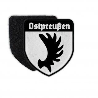 Patch Ostpreußen Heimat Ost Preußen Wappen Aufnäher Klett#36633