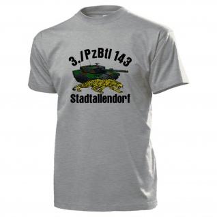 3./PzBtl 143 Stadtallendorf Panzerbataillon Leopard Panzer 2A4 - T Shirt #13713