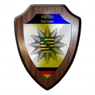 Wappenschild Polizei Sachsen Wappen Abzeichen Dresden Dienstzeit #23078