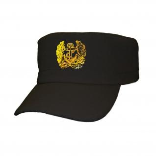 deutsche Marine Eichenlaub Anker Bundeswehr Bund Bw Deutschland - Cap Kappe Baseballcap Kopfbedeckung (kahki 5, 5cm x 5, 5cm) #12358