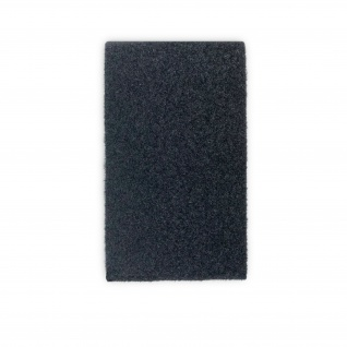Flausch RECHTECK Patch 12 x 7cm schwarz Gegenstück Pflausch Plüsch BW#32735