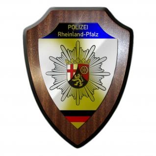 Wappenschild Polizei Rheinland-Pfalz Wappen Abzeichen Mainz Dienstzeit #23085