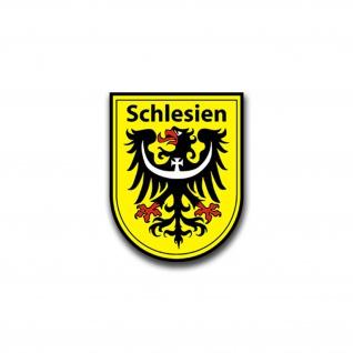Aufkleber/Sticker Schlesien Wappen Silesia Adler Wappen Abzeichen 6x7cm A823