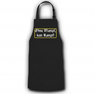 Schürze ohne Mampf kein Kampf Grillschürze Koch Grillen #2733