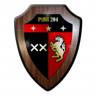 Wappenschild / Wandschild - PzBtl 204 Panzerbataillon Panzer #12264