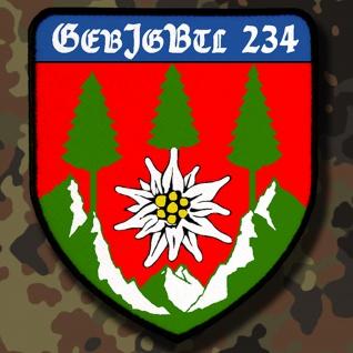 Patch / Aufnäher - GebJgBtl 234 Deutschland Bundeswehr Wappen #7828