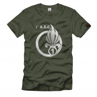 1 REC 1° Régiment Etranger de Cavalerie Fremdenlegion Frankreich T Shirt #1477
