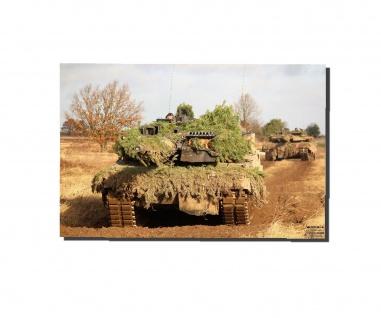 Poster M&N Pictures Panzerstahl Heide Leopard 2 Panzer Bundeswehr 30x20cm#30262