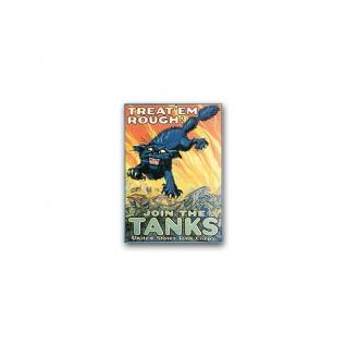 Aufkleber/Sticker Us Tank Corps Soldaten Amerika Werbung Werbeplakat 5x7cm A2411