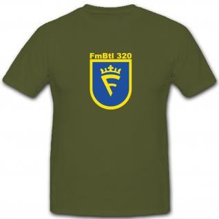 FmBtl 320 Fernmeldebataillon Wappen Abzeichen Emblem - T Shirt #4723
