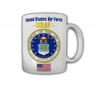 Tasse United States Air Force USAF Amerika Luftwaffe US Wappen Abzeichen #30124