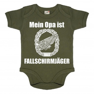 Baby Strampler Mein Opa ist Fallschirmjäger Boddy Airborne Babystrampler #18733