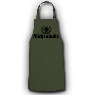 Schürze Küchenbulle Grillen Koch Grillschürze Bundeswehr BBQ #19346