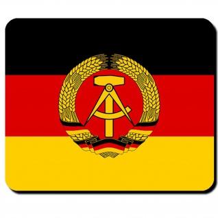 DDR Fahne Deutsche Demokratische Republik Ostdeutschland Wappen - Mauspad #9510