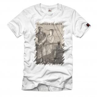 Ragnarr lo Brok Vikings Krieger Mittelalter König Thor Odin T-Shirt#36388