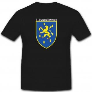 5 Panzerdivision 5 Pzdiv Bundeswehr WK Einheit Wappen Abzeichen - T Shirt #2810