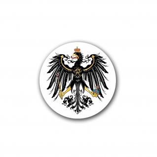 Preußen Adler Deutschland Germany Wappen Tier Vogel FR 7x7cm #A4713