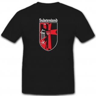 Sudetenland Adler Wappen Heimat Deutschland Sudetendeutsche - T Shirt #9115