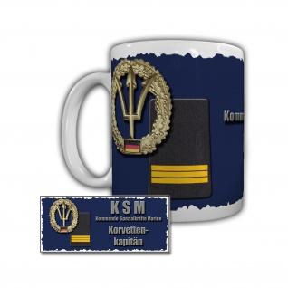 Tasse KSM Korvettenkapitän Marine Sachsen-Klasse F 124 Rangabzeichen #29289
