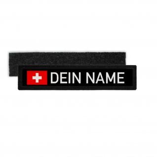 Dienst Namen-Schild Patch Feuerwehr Thw Rettungsdienst Klett Streifen #33355