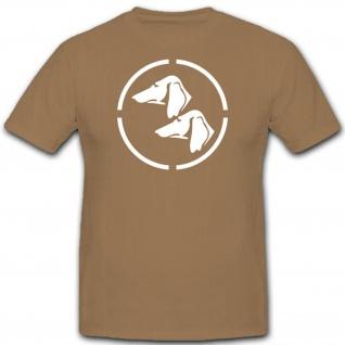 Dackel Köpfe Wh Wk Einheit Fahrzeug Hunde Bundeswehr Wappen - T Shirt #3233