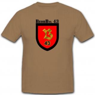 BeobBtl 43 Beobachter Bataillon Militär Bundeswehr Einheit T Shirt #2649