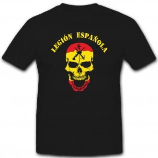 Legión Española Spanische Legion Skull Totenschädel Logo - T Shirt #6617