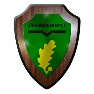Wappenschild / Wandschild / Wappen - Jägerregiment 1 JgRgt #7051