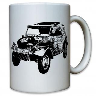 Kübelwagen Kübel Oldtimer Militärfahrzeug WK 2 - Tasse Kaffee Becher #10576