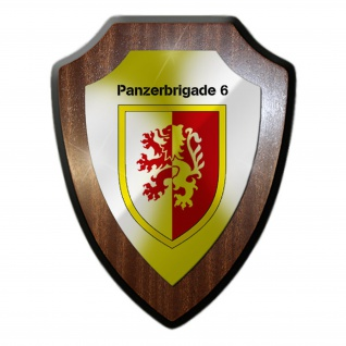 Panzerbrigade 6 PzBrig Heer Bw Einheit Kompanie Militär Wappenschild #19891