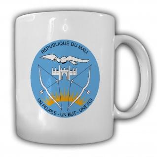 Emblem Republik République du Mali Westafrika Kaffee Becher Tasse #13739