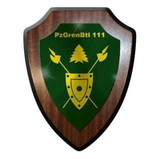 Wappenschild / Wandschild - PzGrenBt l111 Panzergrenadierbataillon #9620