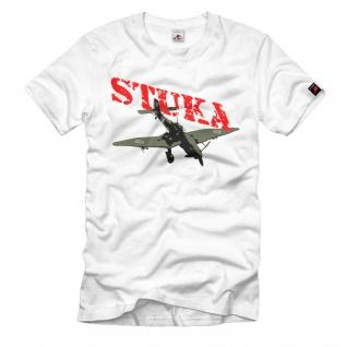Stuka Sturzkampfbomber Flugzeug Jabo Luftwaffe Zwölfzylinder - T Shirt #59
