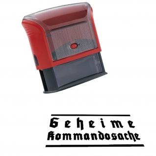 Automatikstempel Geheime Kommandosache Akten Dokumente 14x38mm #12116
