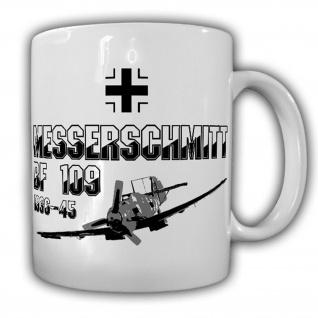 Messerschmitt Bf 109 Me 109 Flugzeug Jagdflugzeug Balkenkreuz Tasse #15454