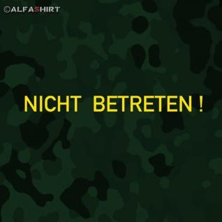 Aufkleber/Sticker Nicht betreten Auto Bundeswehr Militärfahrzeug 15x1, 3cm #A539