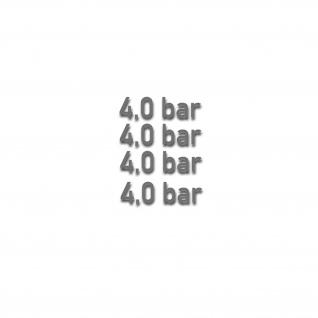 Aufkleber Reifendruck für BW Opel Kotflügel Beschriftung BAR 4x 3, 5x1cm #A4782
