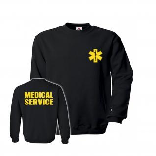 Medical Service Einsatz Feuer Lebensretter Drehleiter Wehr Pullover #26861
