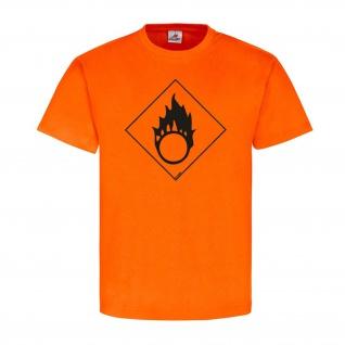 Brandfördernd Chemie Zeichen Logo Flamme Brand T-Shirt#23914